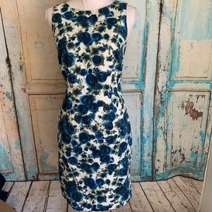 Ann Taylor Factory blue floral dress
